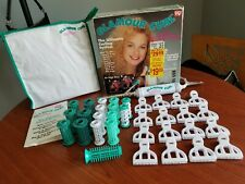 VINTAGE LADY REMINGTON GLAMOUR CURL HAIR STYLING ROLLERS CURLERS CLIPS NIB NOS
