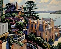 HOWARD BEHRENS - DINARD 1992- Huge Serigraph- Limited Edition 6/300- Hand Signed