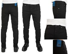 Men's Adidas Originals Slim Fit Skinny Jean Pants Black Cotton New and Sealed