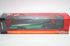Majorette 212053183 - Trailer - Man Mit Tieflader & Speedboot (15,5cm) - Neu