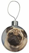Fawn Pug Dog Christmas Tree Bauble Decoration Gift, AD-P1CB