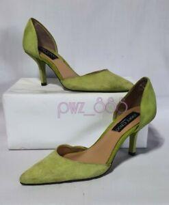 JIMMY CHOO Apple Green Suede Heels Size 34