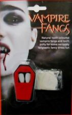 Halloween Vampire Fangs & Tooth Putty Werewolf Dracula Tooth Caps Fancy Dress