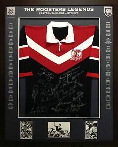 Blazed In Glory - Easts/Sydney Roosters Legends - NRL Signed & Framed Jersey