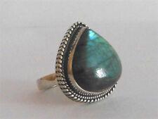 Labradorit-Ring in Sterlingsilber 925 Gr. 18