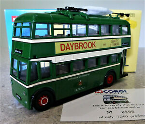 1/50 Corgi Classics Karrier W Trolley Bus Set. Nottingham City. Exc & Boxed.