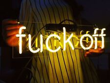 "LED ""fvck off"" Sign Shaped Decor Light Real Glass Home Beer Bar Neon Lamp12*8"""