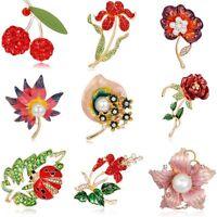 New Jewellery Rose Flower Pearl Crystal Rhinestone Brooch Pin Women Lady Wedding