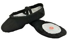 Ballet Dance Gymnastic Yoga Shoes Split Sole Black