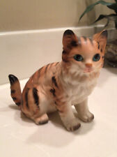 � Vintage Lefton Porcelain Orange Tabby Cat Kitty Figurine H 6364 Japan