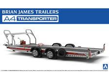Brian James Trailers A4 Transporter Anhänger 1:24 Model Kit Aoshima 052600