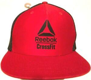 Reebok CrossFit  Adult Unisex Red Black Trucker Mesh Snapback Cap One Size New