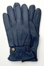 Men's Leather Gloves, Navy Blue, Real Leather, Nicely Lined