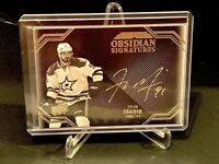 2016-17 UD Black Obsidian Signatures TYLER SEGUIN on Card Silver Autograph- STAR