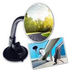 Zone Tech Adjustable Round Blind Spot Mirror Long Arm Suction Angle Rear View