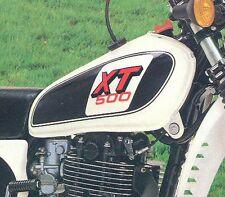 """Yamaha XT500 1979 """"big saving"""" with """"slight seconds"""" Fuel Tank Decals"""