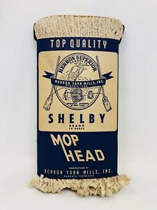 Vintage New NOS Herron Mop Head Replacement Shelby