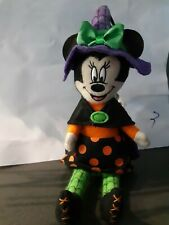 NEW Disney Parks Minnie Mouse Witch Ornament 2016 Halloween Plush