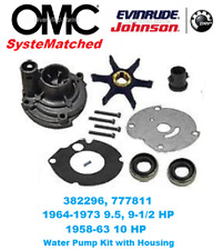 BRP OMC Evinrude Johnson OEM Outboard Water Pump Kit 777811 9.5 HP 10 HP 382296
