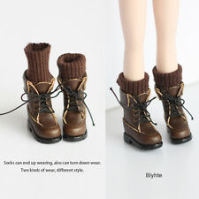 Vintage socks boots shoes_Brown  for Blythe/DAL/Pullip/Momoko/AZONE/JerryBerry