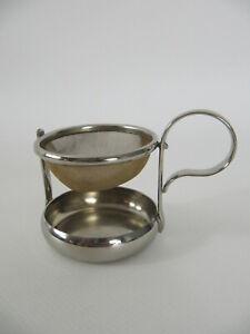 Art Deco Teesieb mit Tropfschale - tea strainer