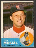 1963 Topps Baseball #250 Stan Musial St. Louis Cardinals - 3rd Series