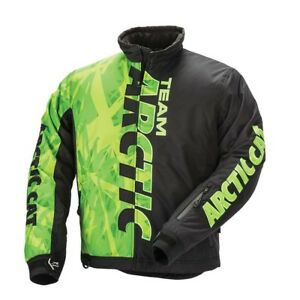 New Arctic Cat Team Pro Snowmobile Jacket ~ Green/Black ~ Large ~ # 5280-254
