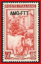 ITALY-TRIESTE / USA OCCUPATION AMG 1950 CATTLE SC#105 MLH fresh CV$12.00+   E16