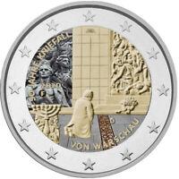 2 Euro Gedenkmünze BRD 2020 Kniefall coloriert / Farbe / Farbmünze / Deutschland
