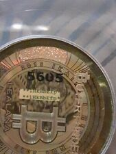 2013 Lealana Gold Hologram Green Address .10 Bitcoin Not Loaded coin RARE 1HK