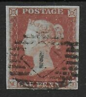 SG10. 1d.Deep Red-Brown. 4 Good Even Margins. Neat Cancel. Clean Back. Ref:0.5