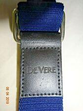 Navy Blue DEVERE Canvas Belt ~Men's / Women's / Unisex~ Adjustable ~ Metal Loops