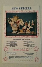 "Sew Special Oh Heavenly Days Collection ""Monday is WashDay"" Craft Pattern-Uncut"