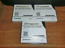Lot of 3 Pioneer 6 Disc Multi-Play Cartridge Magazines Cd Changer