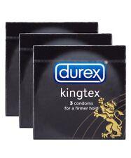 3 BOXES CONDOM DUREX KINGTEX SMALL SIZE 49 MM FOR ASIAN FIT DUREX SAFE SEX