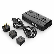 BESTEK Voltage Converter 220V to 110V 6A 4 USB Ports UK AU US EU Travel Adapter