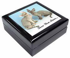 Devon Rex Cats 'Love You Mum' Keepsake/Jewellery Box Christmas Gift, AC-20lymJB