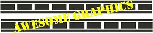 2 X KENNY ROBERTS STYLE RACING CHECKS (straight)  fit any bike, BLACK, small set