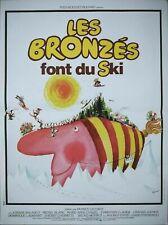 LES BRONZES font du ski le splendid affiche cinema r.1990