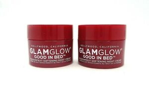 Lot/2 Glamglow  Good In Bed Passionfruit Softening Night Cream ~  0.17 oz x 2