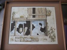 CHRIS FOREST BARN OWLS LITHOGRAPH PRINT SIGNED & NUMBERED W/WOODEN FRAME & COA