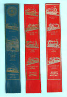 Leather Bookmark Worth Valley Railway North Yorkshire Moors Train Locomotive