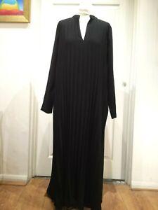 Modern Rarity Black v-neck Pleated Dress UK10 RRP 145