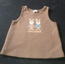 KP Kids Stuff Babys Marron Polaire Filles Robe-Tablier Âge 3-6 MTH