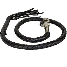 Motorcycle Get Back Whip Leather 42 Inch Long Black