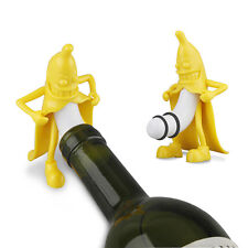Funny Banana Decorative Wine Stopper Wine Beer Bottle Cork Stopper Plug Bar Tool