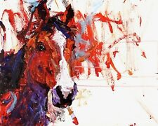 Painting Horse 8x10 Art Print by Ron and Metro