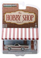 1:64 GreenLight *HOBBY SHOP 8* Tan 1973 Ford Ranchero Squire w/Surfboards NIP