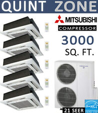 60000 BTU Ductless Mini Split Air Conditioner Heat Pump 12k x 5 CEILING CASSETTE