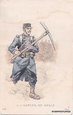 FRENCH MILITARY POSTCARD - SAPEUR DU GENIE - L.H. n. 1 Paris